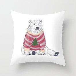 Beary Christmas Throw Pillow