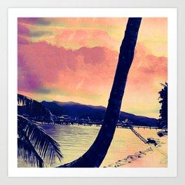 Tempest Island (Warmer Version) Art Print