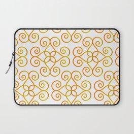 Orange Yellow Gradient Swirls Damask Pattern 2 Laptop Sleeve