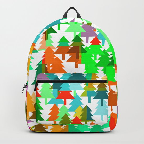 Colorful fir pattern Backpack
