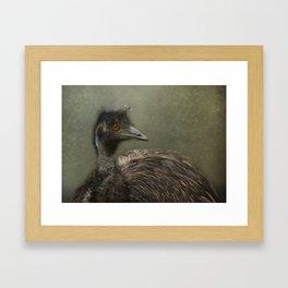 A happy Emu Framed Art Print