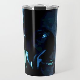The face of Who (Two) Travel Mug