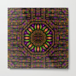 surrounded by  ornate  loved candle lights in mandala star shine Metal Print