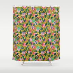 Cool summer in the mustard Shower Curtain