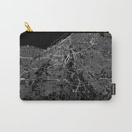 Cleveland Black Map Carry-All Pouch