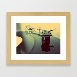 Needle on the Record Framed Art Print