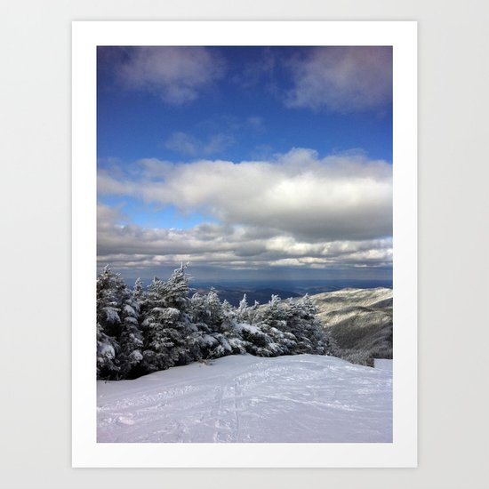 Skiing in Vermont Art Print