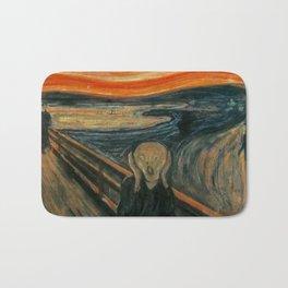 The Scream by Edvard Munch, circa 1893 Bath Mat