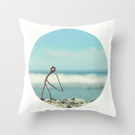 Outing On The Beach Throw Pillow