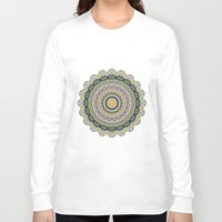 mineral Long Sleeve T-shirts featuring Boho Patchwork-Mineral Colors by Groovity