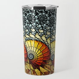 Billow - Abstract Fractal Artwork Travel Mug