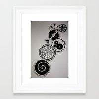clockwork Framed Art Prints featuring ClockWork by Kelly N. Gin