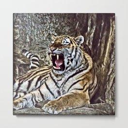 Painted Tiger 8 Metal Print