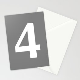 4 (WHITE & GRAY NUMBERS) Stationery Cards