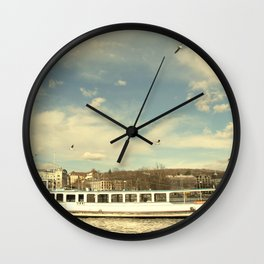 Lake Zurich in Warmth Wall Clock