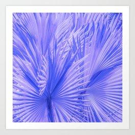 Palm Leaves: Purple Hues Art Print
