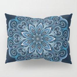 Blue Water Mandala Swirl Pillow Sham