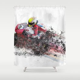 High Speed Motorcycle Racer Shower Curtain