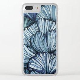 Blue Coral Clear iPhone Case