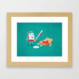 Snack Attack Framed Art Print