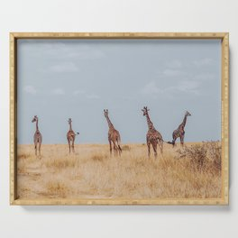 Hello Giraffes Serving Tray