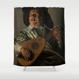 """Judith Leyster """"The Serenade"""" Shower Curtain"""