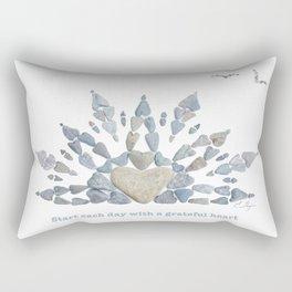 Start each day with a grateful heart Rectangular Pillow
