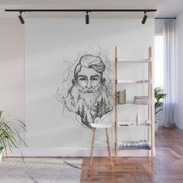 Beard: Fire Wall Mural
