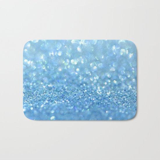 Sparkling Baby Sky Blue Glitter Effect - on #Society6 Bath Mat