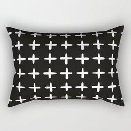 Plus sign black and white Rectangular Pillow