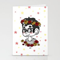 klaine Stationery Cards featuring Flowers by Sunshunes