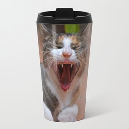 Liza the cat with a big smile Travel Mug