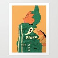 No Place 2 Run Bomber Jacket Girl Art Print