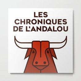 Les chroniques de l'Andalou Metal Print