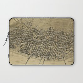 Vintage Pictorial Map of Atlantic City NJ (1900) Laptop Sleeve