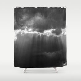 Black Light Shower Curtain