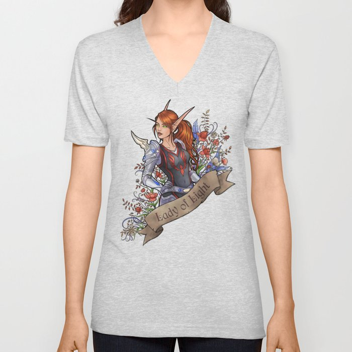 Lady of Light Unisex V-Neck