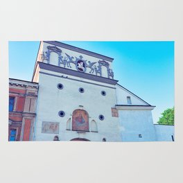 Ancient gate of Dawn into Old city in Vilnius Rug