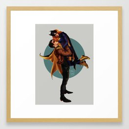 Jason Todd and Barbara Gordon Framed Art Print