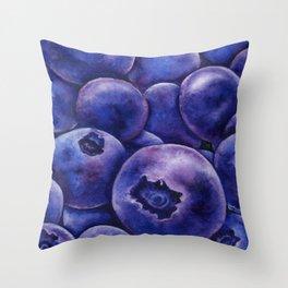 Fresh Blueberries Throw Pillow
