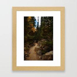 Mountain Path in Autumn Framed Art Print