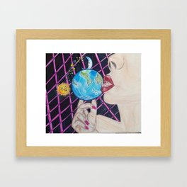 I want the World and Everything in it. Framed Art Print