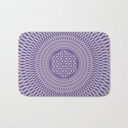Flower of life Ultra violet on misty lilac Bath Mat