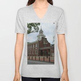 Philadelphia - Independence Hall Unisex V-Neck