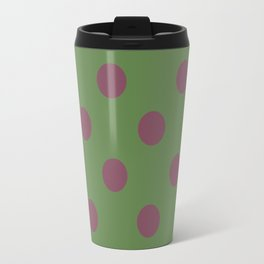 Pink and Green Pol Travel Mug