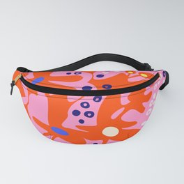 Pink home jungle: Organic shapes and flowers Fanny Pack