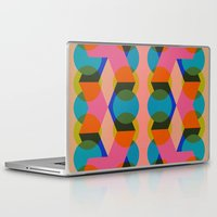 60s Laptop & iPad Skins featuring Geometric 60s by Lilly Marfy