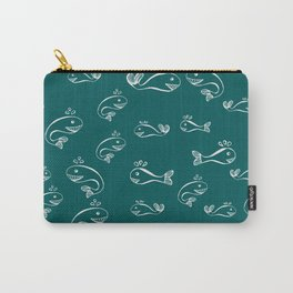 Pattern with baby whales Carry-All Pouch