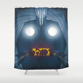 snuggle robot Shower Curtain