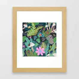 Beetle Pattern Framed Art Print
